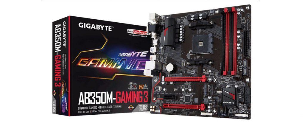 Gigabyte AB350M-Gaming 3 AM4 Motherboard