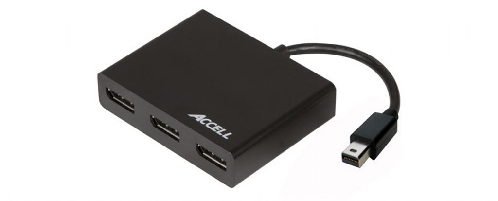 Accell Mini DisplayPort 1.2 to 3 DisplayPort Multi-Display MST Hub