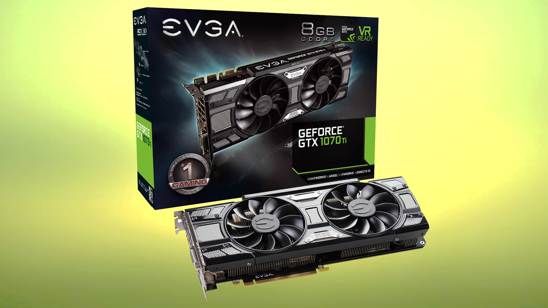 EVGA GeForce GTX 1070 Ti SC GAMING Black Edition Graphics Card